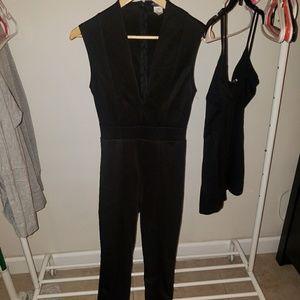 **2** items. Black shorts romper & black jumpsuit